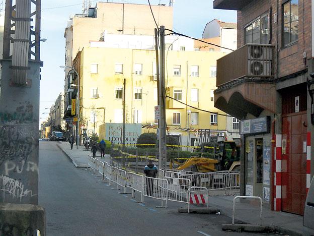 Obras de urbanización para conectar las calles de Pamplona y Castilla