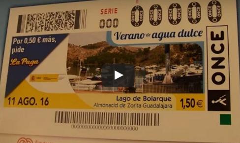 El Lago de Bolarque inspira el cupón de la ONCE
