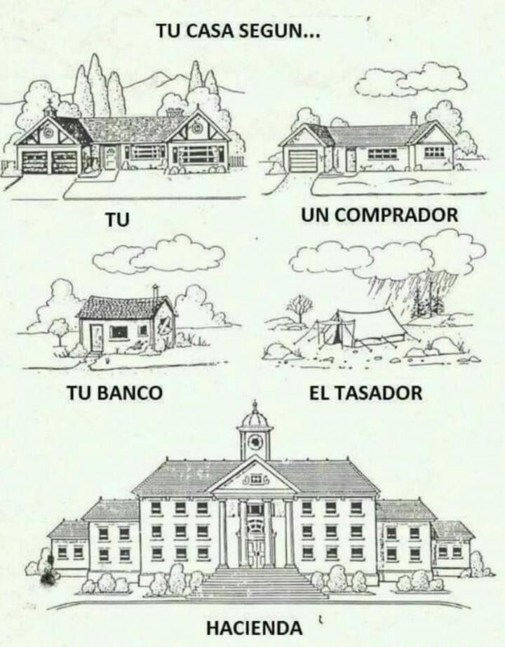 Imagen del día: cómo es tu casa según la mire un banco, una tasadora o Hacienda