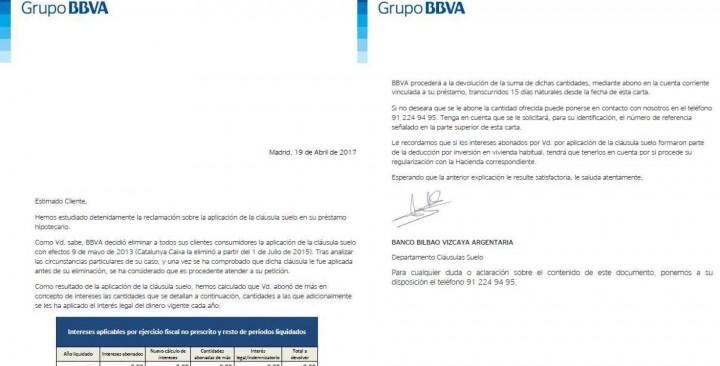 Bbva se aviene a devolver por primera vez las cl usulas for Clausula suelo mayo 2013