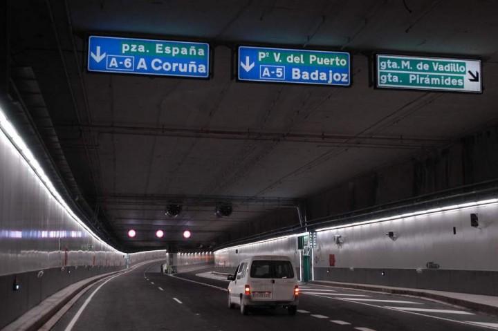 El Ayuntamiento de Madrid cierra los túneles de M-30 esta noche